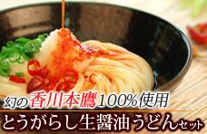 香川本鷹・唐辛子醤油うどん